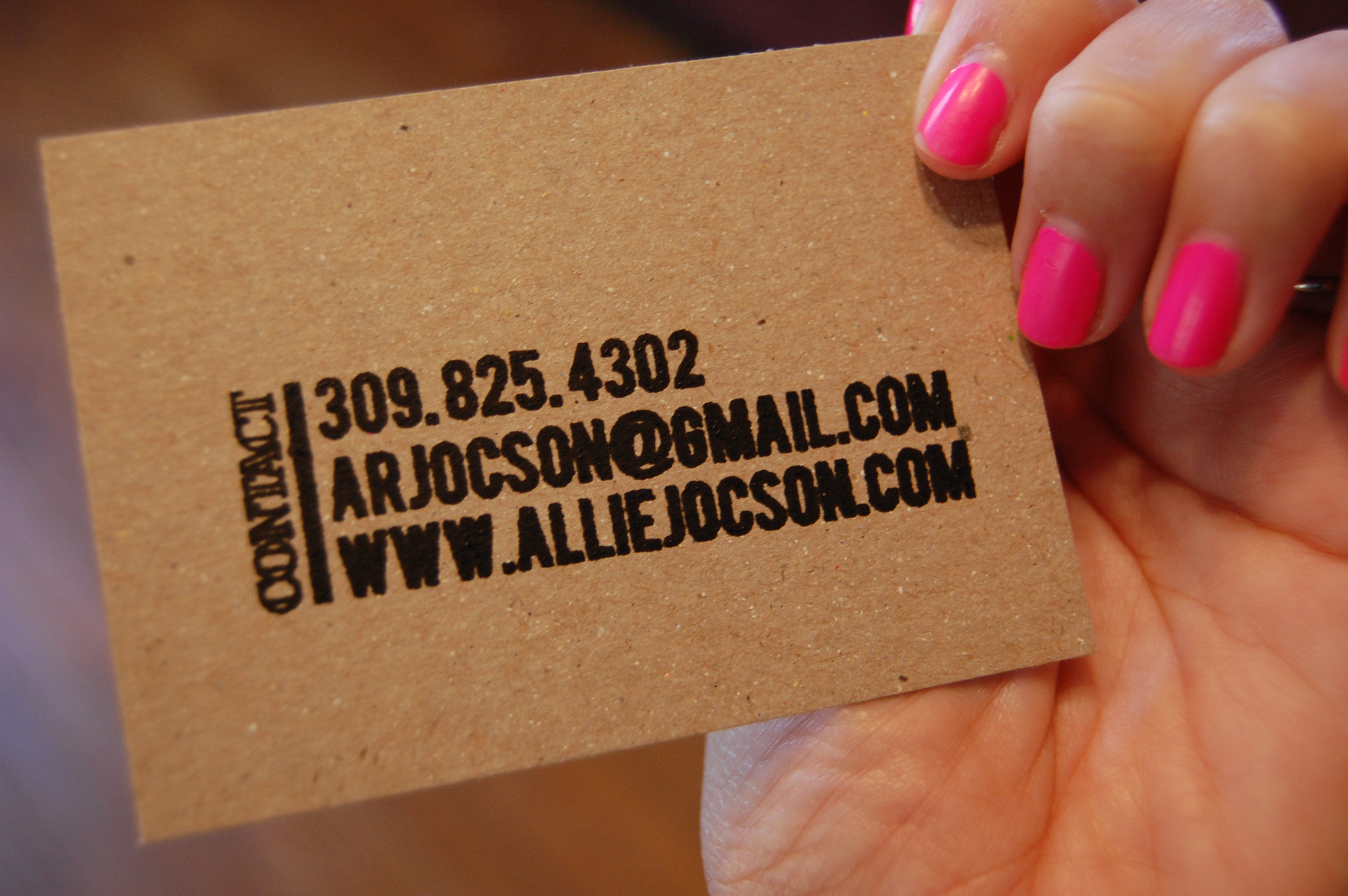 Business Cards - Be Up & Doing