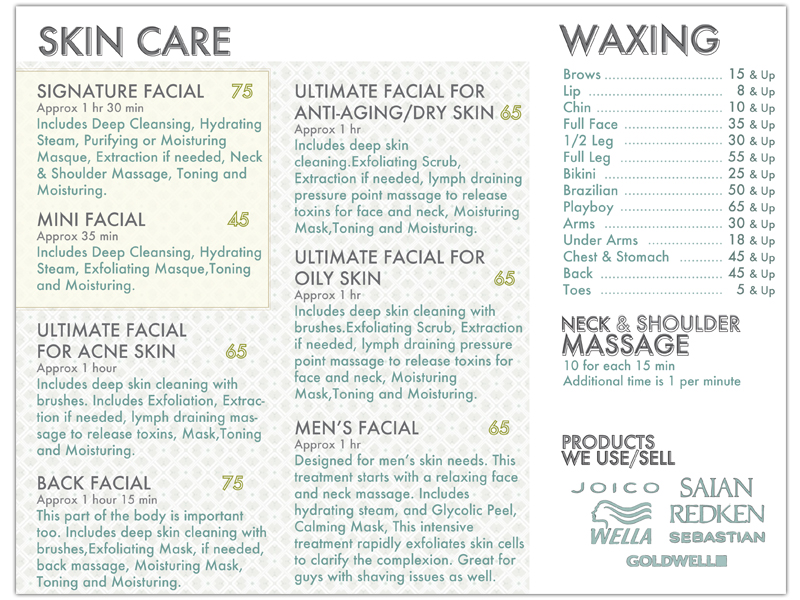 Be Up Doing Infinity Salon Brochure Be Up Doing – Salon Brochure