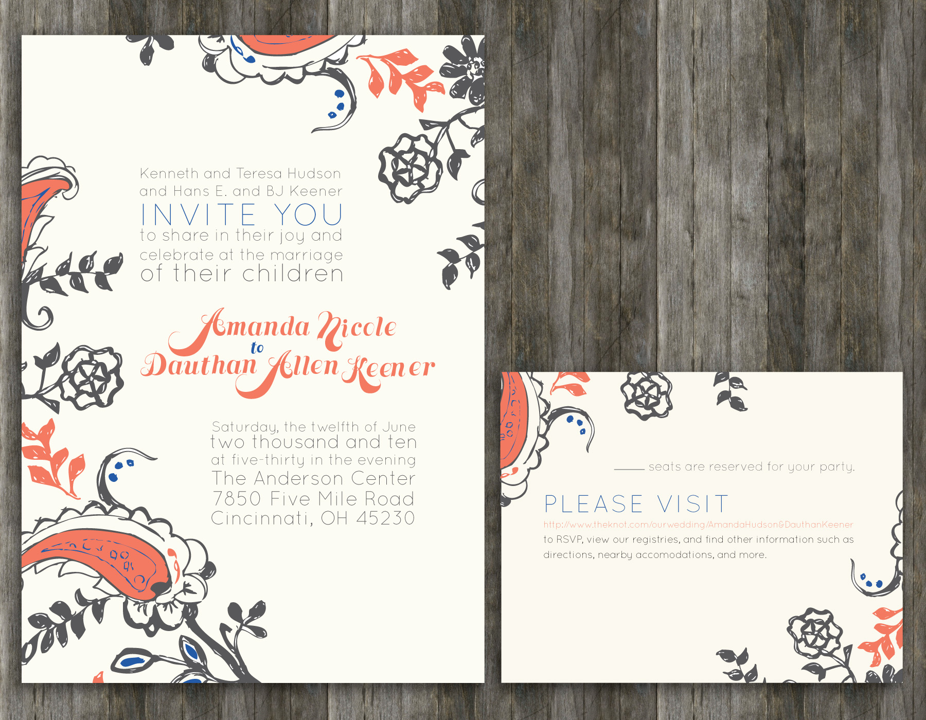 Wedding Invitations: Amanda and Dauthan - Be Up & Doing