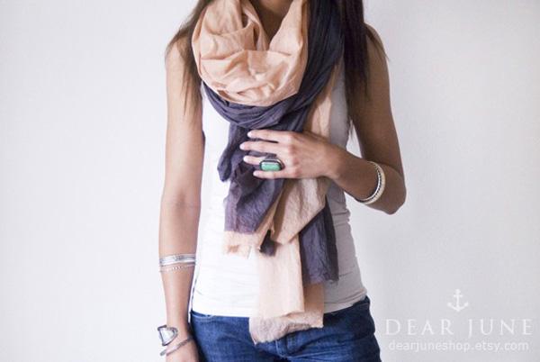 SAND & STORM SET - 2 cotton scarves
