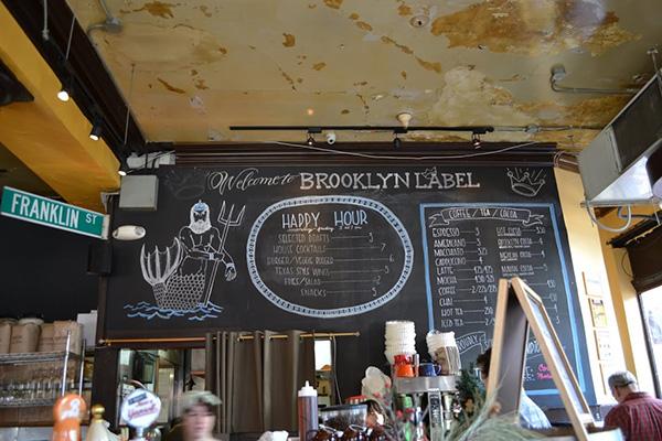 brooklyn label menu