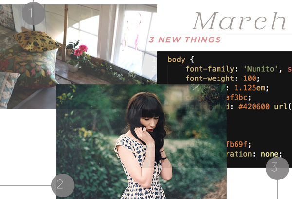 March 3 New Things